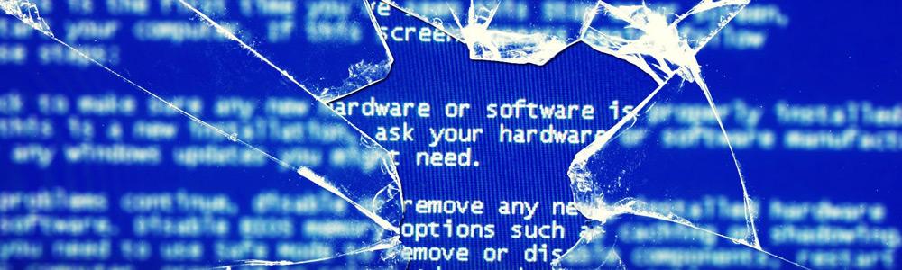 Синий экран на компьютере Asus